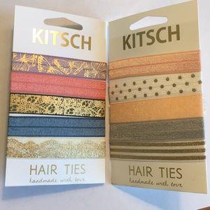 🌸🦋 2 sets of Kitsch Hair Ties 🦋🌸